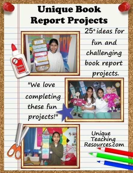 Over 25 ideas for fun and challenging book report projects on Unique Teaching Resources.