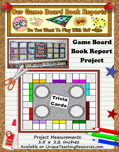 game board book report projects