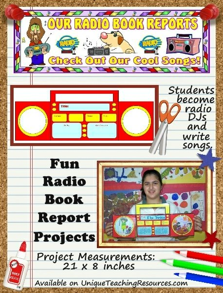 Fun Radio DJ Book Report Projects and Templates for Students