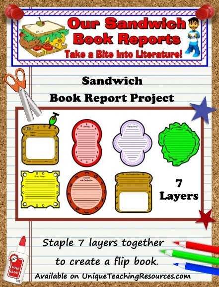 Sandwich Templates - Fun Book Report Project Ideas