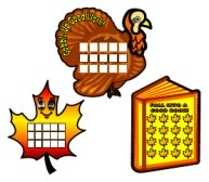Fun Thanksgiving and Fall Sticker Charts and Templates For Teachers