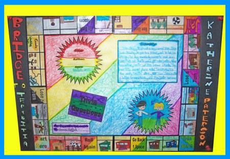 Game Board Book Report Projects Bridge To Terebithia