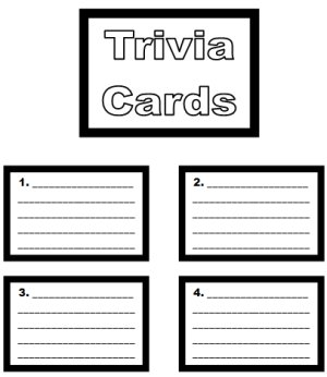 Monopoly Game Board Trivia Cards