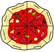 Genre Pizza Fun Reading Sticker Chart Template