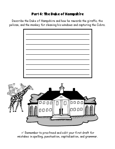 The Giraffe and the Pelly and Me Worksheets for Group Projects