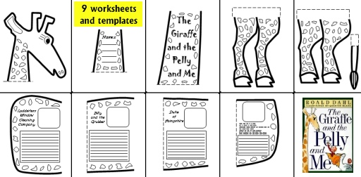 The Giraffe and the Pelly and Me Fun Group Project Worksheets, Templates and Activities