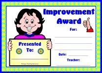 Girl Student Improvement Award
