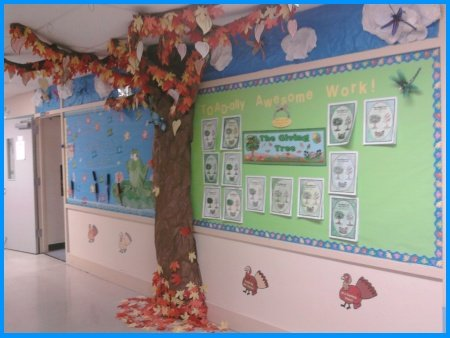 The Giving Tree By Shel Silverstein Elementary School Bulletin Board Fall Display