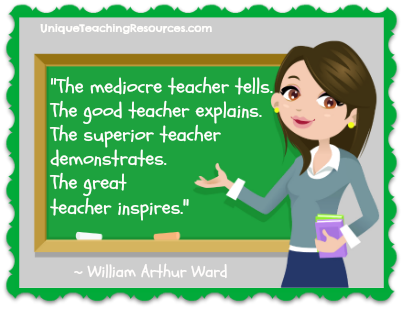 Great Teachers Inspire - Famous Quotes About Teaching