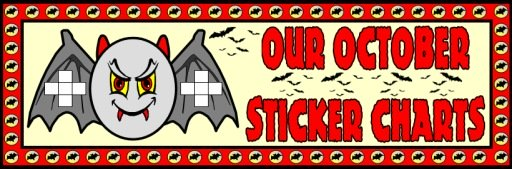 Halloween Bulletin Board Display Ideas and Examples for Sticker Charts