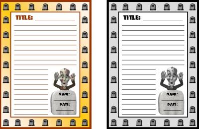 Halloween Creative Writing Printable Worksheets Graveyard Stories