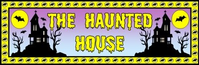 Halloween Creative Writing Activities The Haunted House Banner