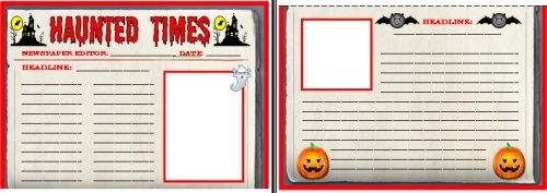 Halloween Times Newspaper Worksheets