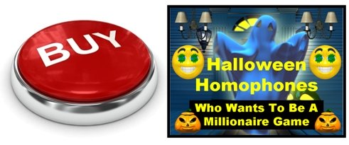 Halloween Powerpoint Lesson Plans Presentation Homophones and Parts of Speech