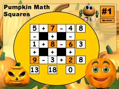 Halloween Math Powerpoint Lesson Plans Fun Addition and Subtractions Puzzle Games