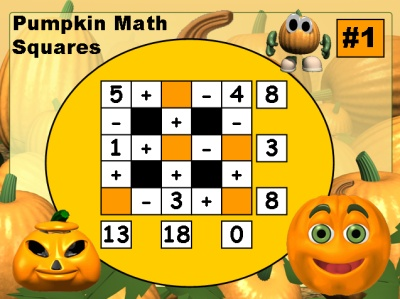 Halloween Math Powerpoint Lesson Addition and Subtraction Puzzles