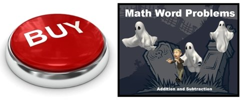 Halloween Math Word Problems Powerpoint Presentation Buy Now Button