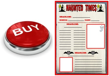 Halloween Newspaper Creative Writing Templates and Project Buy Now Button
