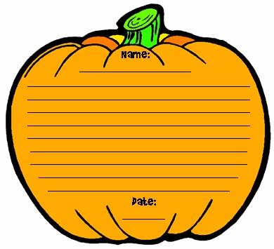 Halloween Pumpkin Template Printable Worksheets