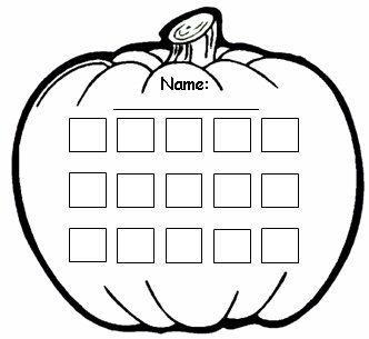 Pumpkin Halloween Sticker Chart Templates for Elementary Teachers