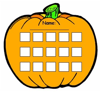 Fun Pumpkin Halloween Sticker Chart Templates for Elementary School Students
