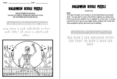 Halloween Riddle Puzzle