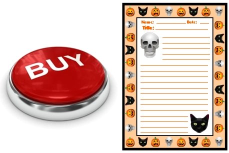 Halloween Spooky Stories Printable Worksheets Buy Now Button