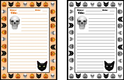 Halloween Spooky Stories Printable Worksheets for Creative Writing