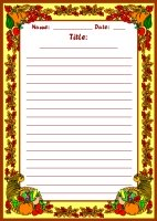 Fall Harvest November Writing Prompts Printable Worksheet