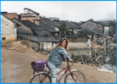 Heidi McDonald Teacher Biking in China