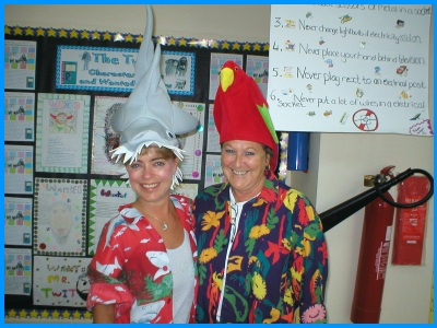 Heidi McDonald Teacher Crazy Hat Day at School