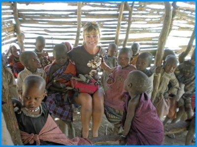Heidi McDonald Teacher Visit to Masai School Tanzania
