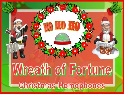 Homophones Powerpoint Presentation Lesson Plans Christmas