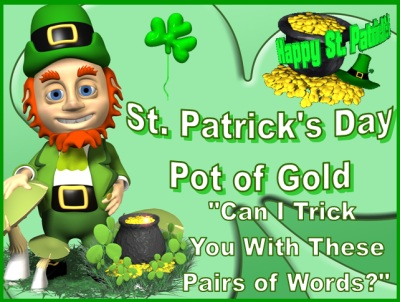 Homophones St. Patrick's Day Powerpoint Presentation