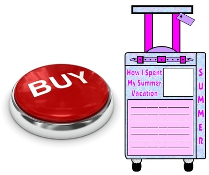 Buy How I Spent My Summer Vacation Suitcase Templates Now