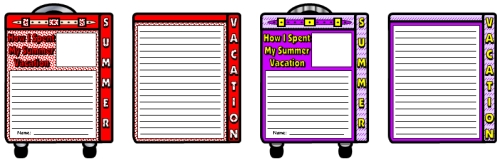 Back to School How I Spent My Summer Vacation Lesson Plans and Activities