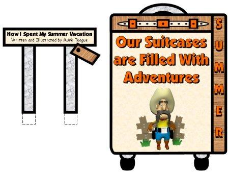Back to School Bulletin Board How I Spent My Summer Vacation Mark Teague