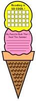 Ice Cream Cone and Sticker Chart Templates
