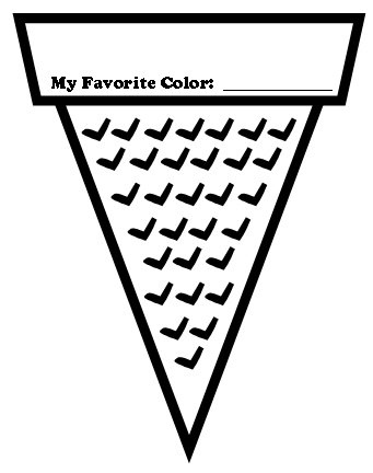 Ice Cream Color Poems Cone Template