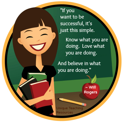 If you want to be successful Will Rodgers Teacher Appreciation Quote