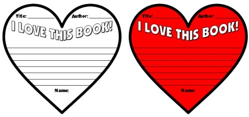 Valentine's Day Reading Heart Shaped Writing Templates and Worksheets
