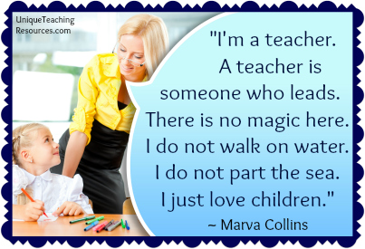 Famous Quotes About Teachers by Marva Collins