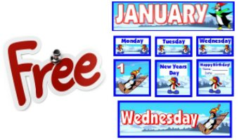 Free Download For January Classroom Calendar Set