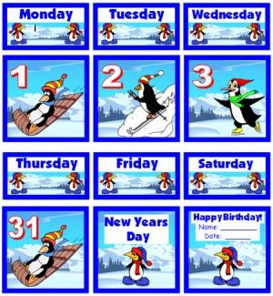 January Printable Calendar For School Teachers
