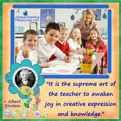 Albert Einstein Teaching Quote - It is the supreme art of the teacher to awaken joy in creative expression and knowledge.