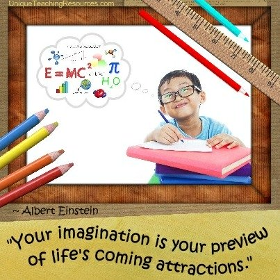 Famous Einstein Quotes - Your imagination is your preview of life's coming attractions.