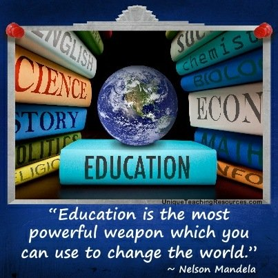 education is the most powerful weapon I am attending school as most people do because i want to better myself but i am not alone in my efforts i am only here because of the sacrifice.