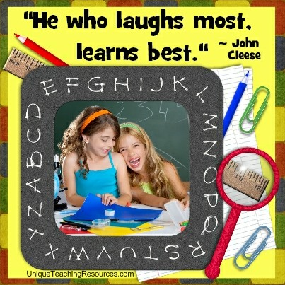 Funny Teacher Quotes - He who laughs most, learns best. John Cleese