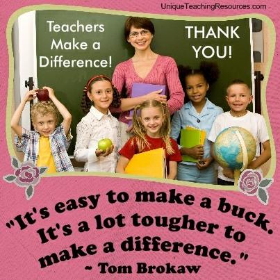 It's easy to make a buck. It's a lot tougher to make a difference. Tom Brokaw