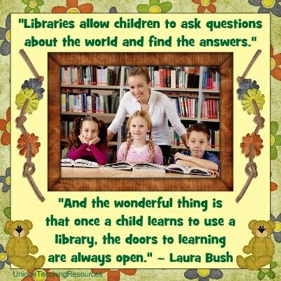 Quotes About the Library - Libraries allow children to ask questions about the world and find the answers. Laura Bush